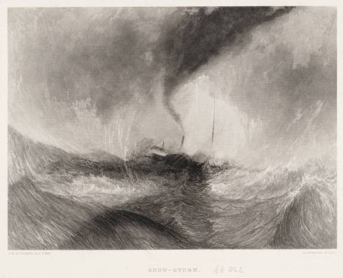 Snow-Storm, engraved by R. Brandard published 1859-61 by Joseph Mallord William Turner 1775-1851